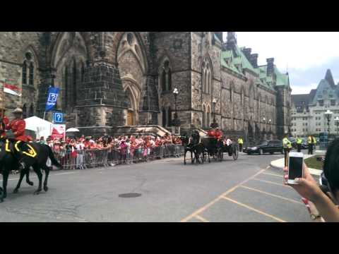Canadian Governor General Arrival