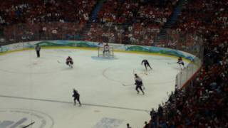Sidney Crosby Scores The Gold Medal Winning Goal At The