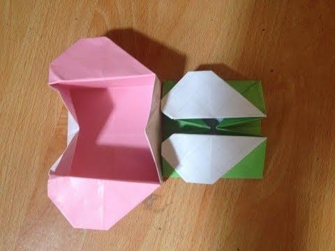 Cách gấp hộp giấy hình trái tim  Origami, Heart box