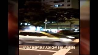 Radar de avan�o de sinal � flagrado disparando flashes com sem�foro aberto em BH