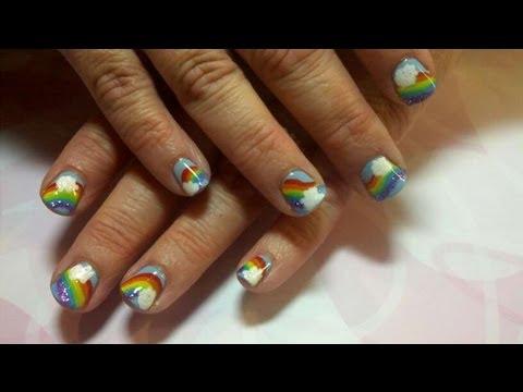 Nail Art Tutorial For Beginners: Rainbow