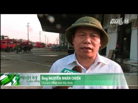 VTC14_Bắc Ninh: Cháy lớn tại xưởng sản xuất nhà máy Diana Việt Nam