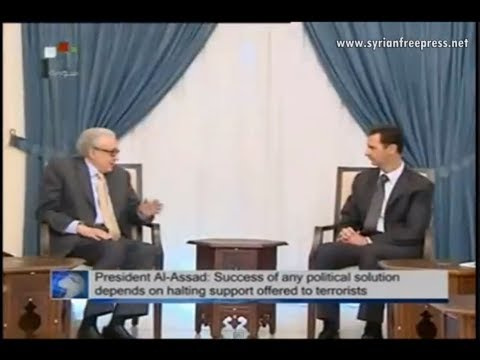 Syria News 30.10.2013, President Assad meets Brahimi: Only Syrians can draw Syria's future
