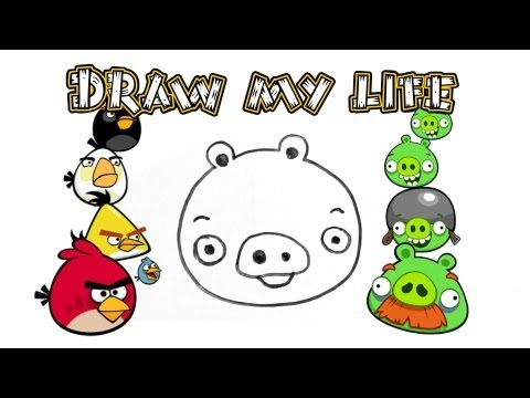 Draw my life: green pigs (angry birds)