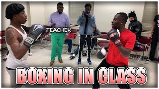 Put On The Gloves Ep.2 IN CLASS! (College)