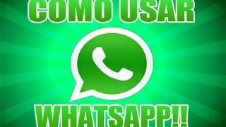 Como Usar Whatsapp 2013