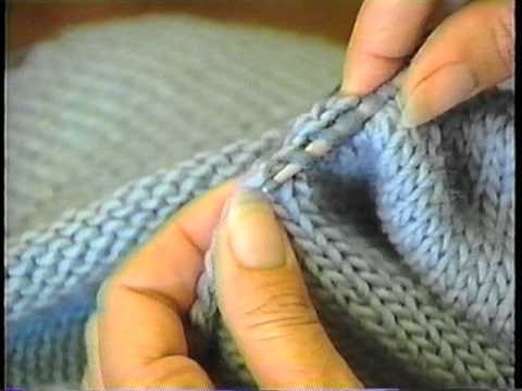 Sweater Finishing: Pick up Stitches Around the Neck - YouTube