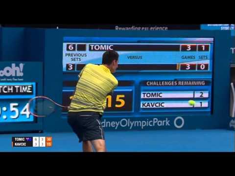Bernard TOMIC (AUS) vs Blaz KAVCIC (SLO) FULL MATCH Apia International Sydney 2014