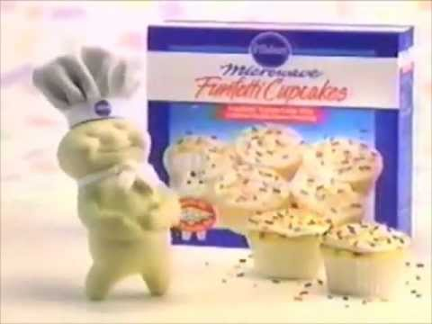 Pillsbury Funfetti Microwave Cupcakes commercial - 1991 - YouTube
