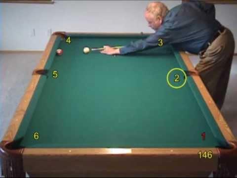 Pool and billiards bank shot challenge drill -