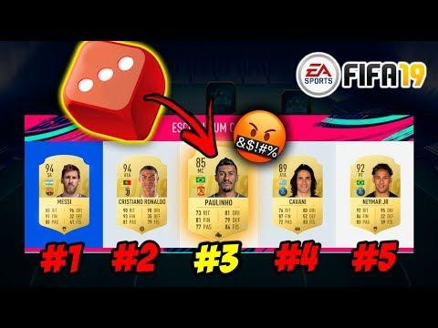 O DADO NOS FERROU!!! - FUT DRAFT MAIS RIDÍCULO DO FIFA 19