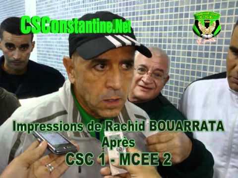 CSC 1 - MCEE 2 : Enregistrement audio de Rachid Bouarrata