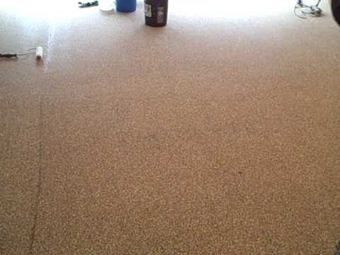 Paint Speck Polyurethane Garage Floor Part 1 Youtube