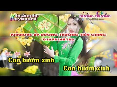 [Karaoke Nhạc Sống] - Con Bướm Xuân Remix DJ (Beat Khánh Long An) Full