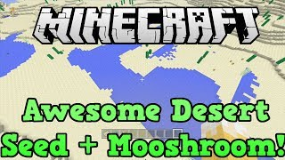 Minecraft Xbox 360 + PS3 Seed: Desert Flatland + Temple At