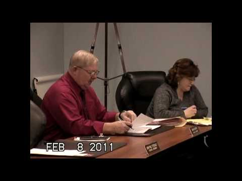 Champlain Town Board Meeting 2-8-11