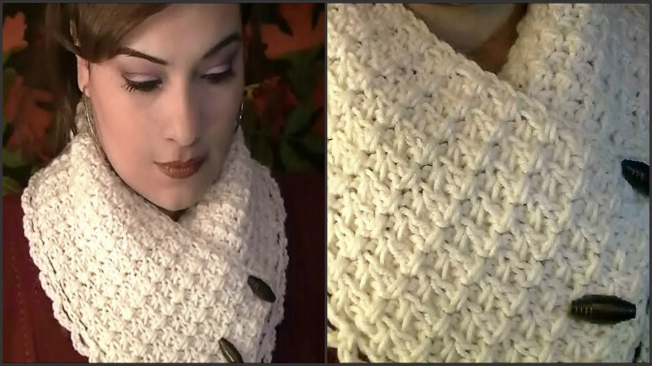 Youtube Crocheting A Scarf : How To Crochet A Collar Scarf ~ Tutorial - YouTube
