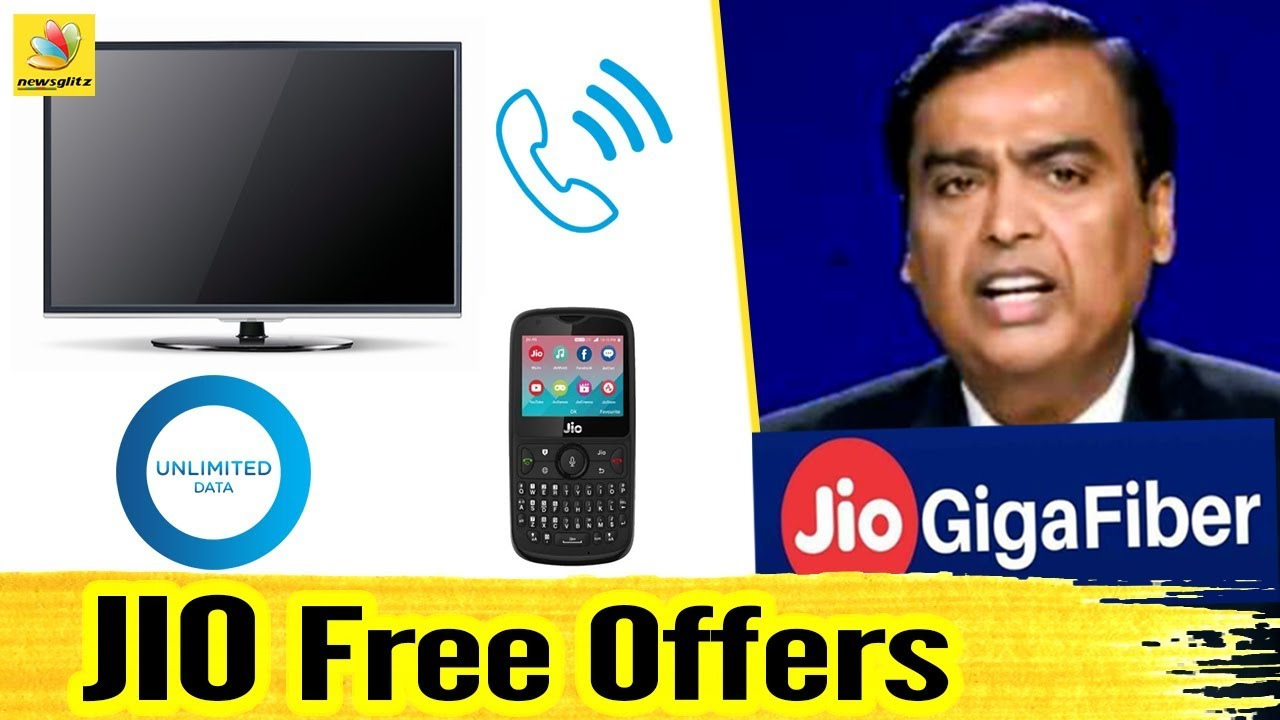 JIO அதிரடி இலவசங்கள்! | Free LED TV, Set up Box | Giga Fiber plans