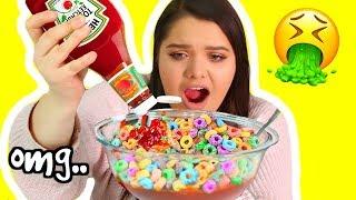 WEIRD Food Combinations People LOVE! Eating Gross Food People Like