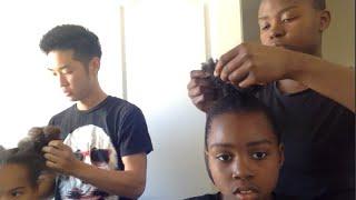 NATURAL HAIR | BALLET BUNS | CURLY HAIR ROUTINE