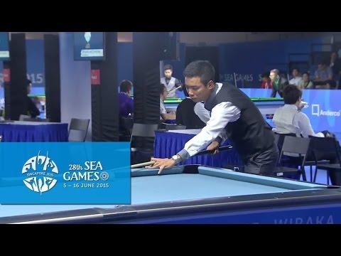 Billiards - 9-Ball Pool Men's Singles Semi-Finals (Day 4) | 28th SEA Games Singapore 2015