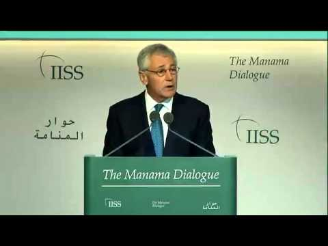 Chuck Hagel addresses Manama Dialogue 2013