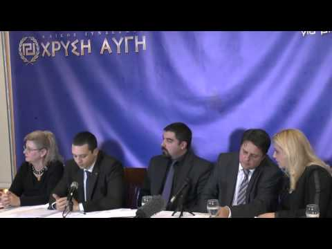 NICK GRIFFIN (MEP) TOGETHER WITH GOLDEN DAWN MP'S - ATHENS GREECE 10TH JAN 2014