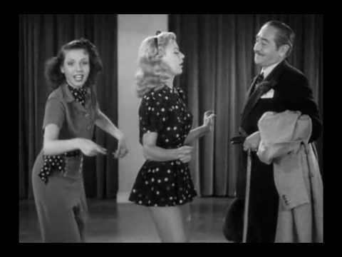 Rehearsal Dance Of Ginger Rogers and Ann Miller - Stage Door (HD Quality)