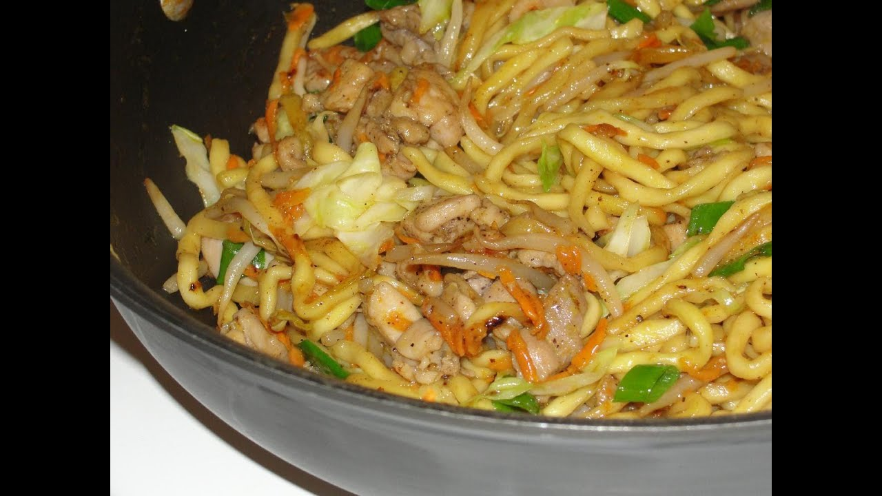 Chicken Yakisoba (fried noodles) - YouTube