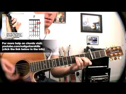 'Rolling In The Deep' Adele - Ultra Easy How To Play Acoustic Guitar Tutorial Lessons Pt.2