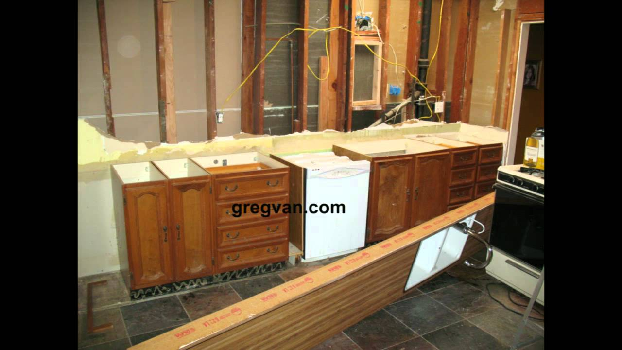 Countertop Removal : ... Remove Old Countertop With Sink - Kitchen Remodeling Advice - YouTube