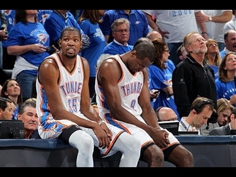 Kevin Durant and Serge Ibaka Combine to Blowout the Nets