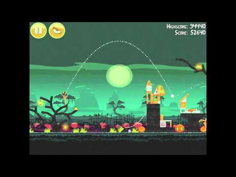 Angry Birds Seasons Ham'o'ween 2-15 Halloween 2012 Hamoween Walkthrough 3 Star