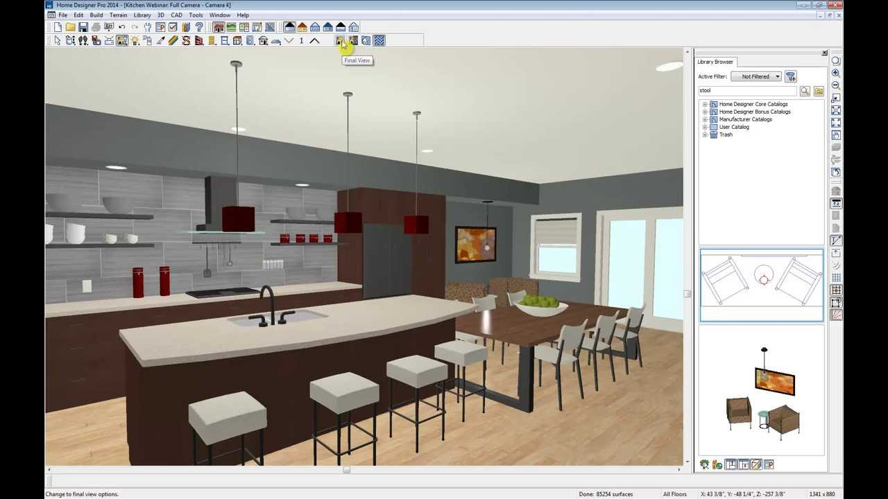 Home designer software kitchen webinar youtube for Architectural design kitchens