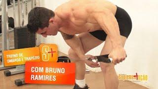 Treino de ombros e trapézio com o atleta Bruno Ramires