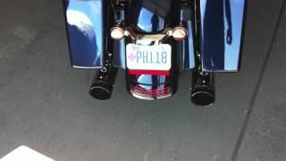 2012 Street Glide V&H Dresser Duals 4inch Rineharts Drive