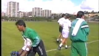 Reportagem sobre os treinos antes do Sporting-Porto a contar para a meia-final da Taça de Portugal em 1995/1996