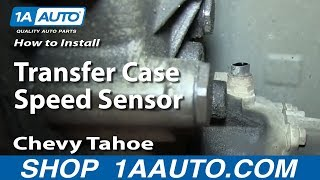 How To Install Replace Transfer Case Speed Sensor 1995-99