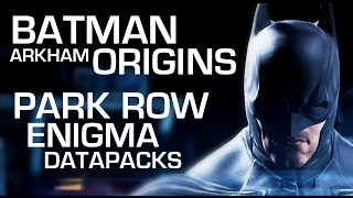 Batman: Arkham Origins Enigma Data Packs Park Row