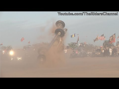 Sand rail Rollover and Fire, Glamis New Years 2014