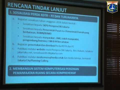 12 Jun 2014 Plt. Gub Basuki T. Purnama Rapat Paparan Dinas Tata Ruang