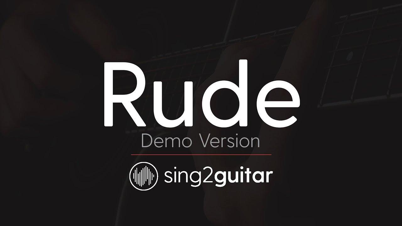 Rude acoustic guitar karaoke demo magic youtube