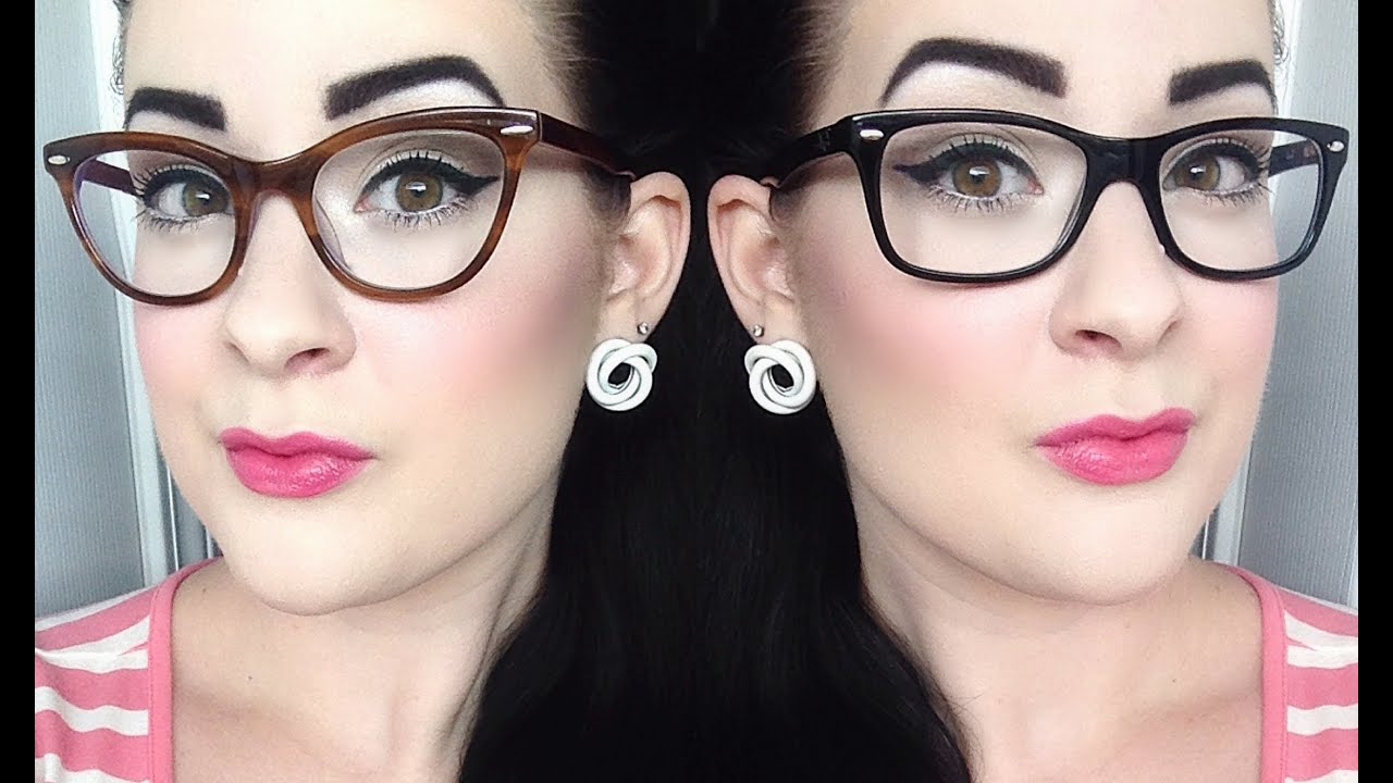 Zenni Optical Crooked Glasses : Everyday Pinup Tutorial for Glasses - YouTube
