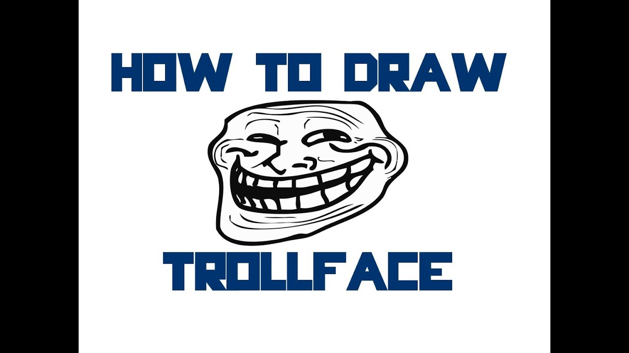 how to make a troll face