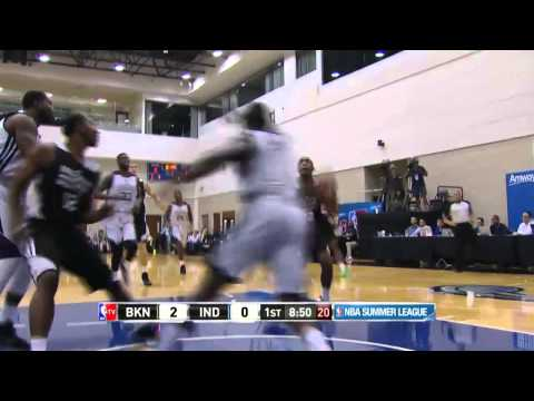 Markel Brown Gets It Started | Nets vs Pacers | July 05, 2014 | NBA Summer League 2014