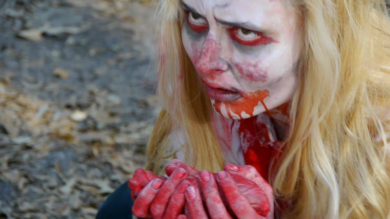 Zombie eating people