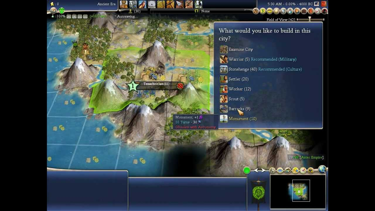 civ 6 how to play montezuma