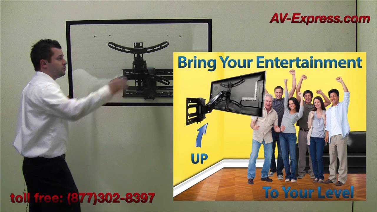 Smart Tv Wall Mount Bracket W Interactive Arm Youtube