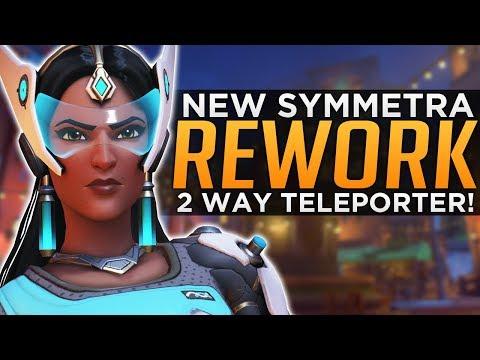 Overwatch: NEW Symmetra Rework Update! - 2-Way Teleporter!