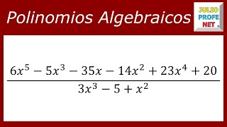 División de polinomio entre polinomio
